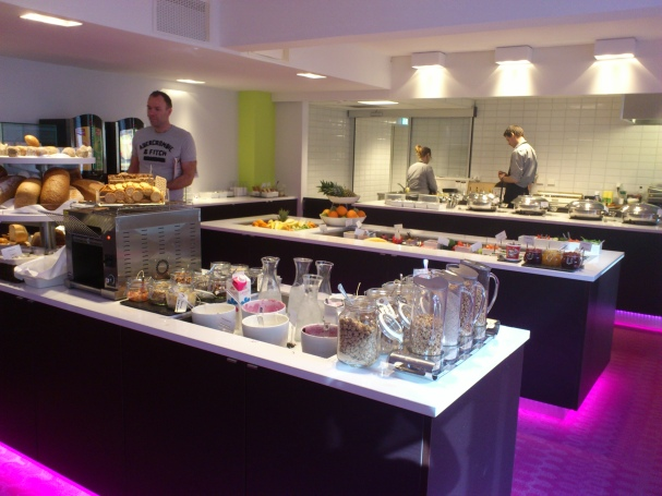 Breakfast buffet at the hotel