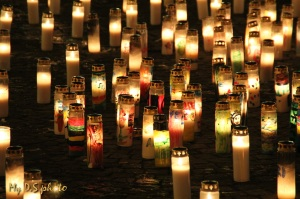 Candles everywhere