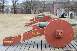 Old cannons protecting Akerhus Fortress