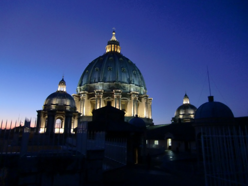 Vatican in the evening