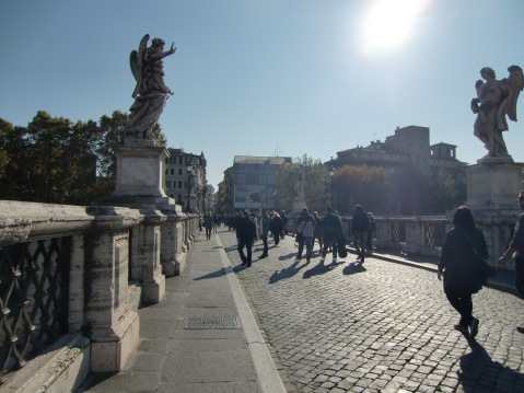 Bridge near Castel Sant'Angelo called bridge of Angels. Doesn't that sound nice?