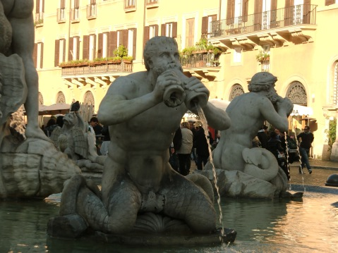Lot of statues in fountains everywhere