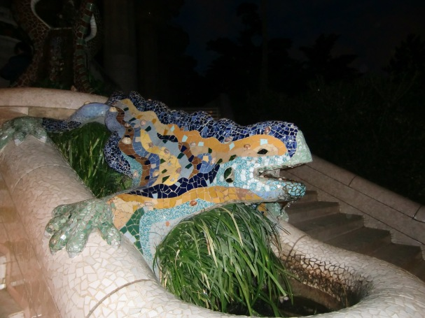 Sculptures in the Parc Güell