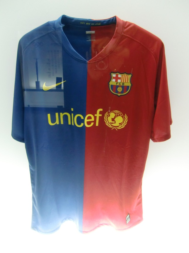 The Barcelona soccer shirt
