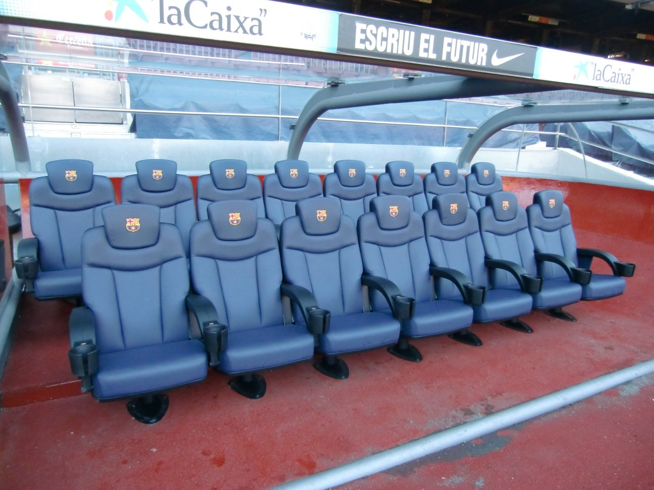The soccer players chairs
