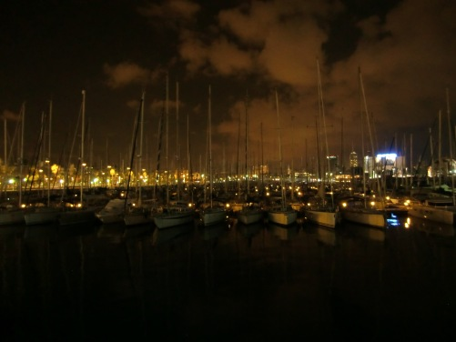 The harbor by night