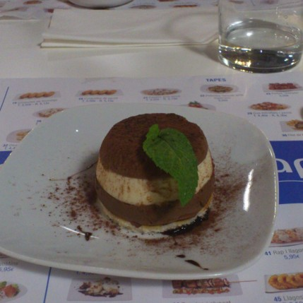 One of the tapas dessert i tried