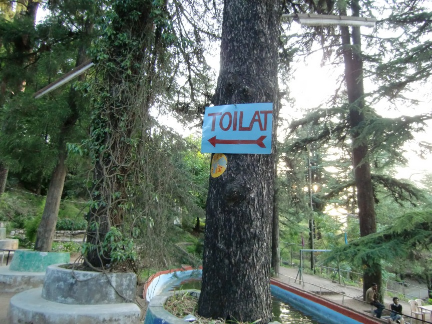 "There's even a ""Toilat"" which means toilet."