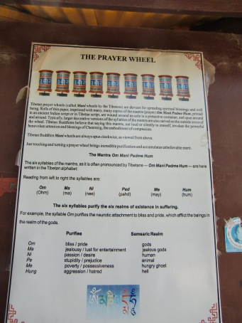 Info about the prayer wheels