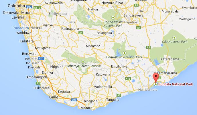 Bundala is located in south of Sri Lanka